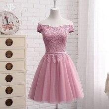 Heißer Verkauf Viele Farben A linie Cap Sleeve Tüll Spitze Kurze Abendkleider 2020 Neue Elegante Party Kleid Abendkleid EN04K