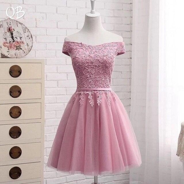 Hot Sale Many Colors A line Cap Sleeve Tulle Lace Short Evening Dresses 2020 New Elegant Party Dress Prom Gown EN04K