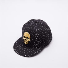 fashion Skull Decoration Hip Hop Flat Hats Snapback Cap Baseball Caps For Women  Men Skateboard Hats Casual casquette de baseball 193f6acc698c