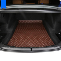 lsrtw2017 wearable fiber leather car trunk mat rug for bmw 5 series E60 E61 F10 F11 F07 G30 G31 2003 2019