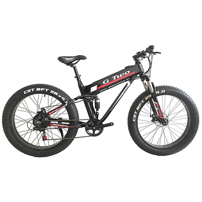 26 pouces 7 Vitesse vélo électrique Fat Tire vtt électrique 48 V 14Ah 500 W EBike Neige Vélo Tout suspendu