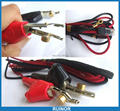 1 комплект  кабель для проверки телефона  RJ11  шнур  кровать  гвоздильный зажим  GENE Alligator Clip