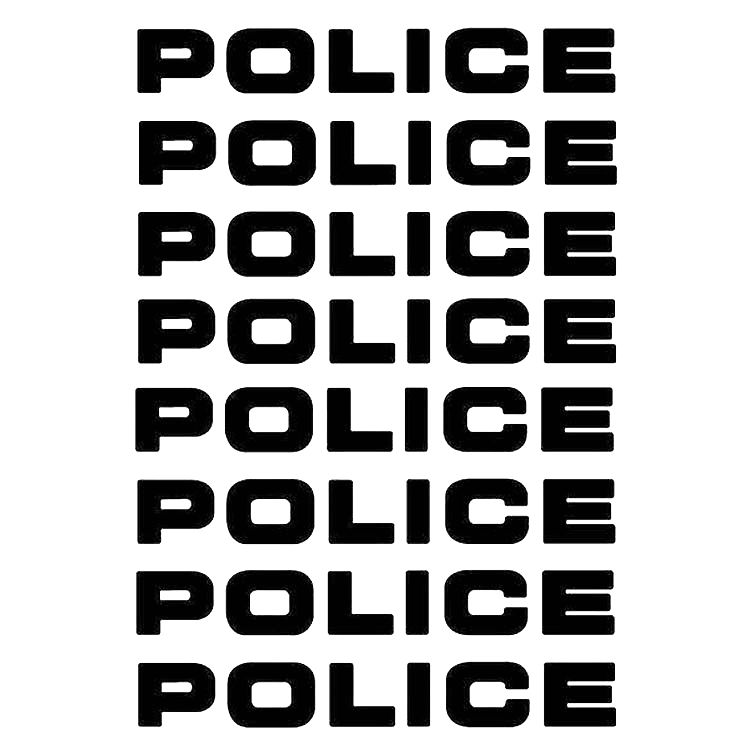 8pcs/lot Car-styling Car Decals POLICE Reflective Car Stickers Decals Motorcycle Decorative Personality Car Styling 16*2.5CM Стикер
