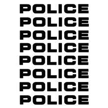 8 шт./лот, автомобильные наклейки, полицейские светоотражающие автомобильные наклейки, наклейки для мотоцикла, декоративные индивидуальные наклейки для автомобиля, 16*2,5 см