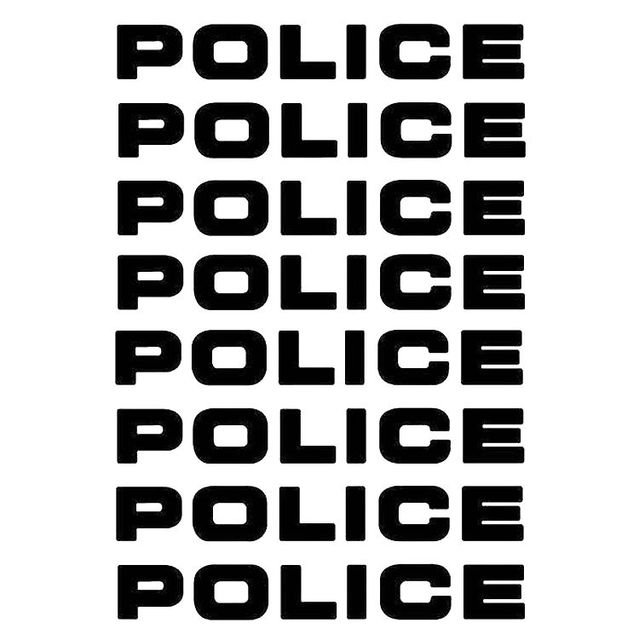 8pcs/lot Car styling Car Decals POLICE Reflective Car Stickers Decals Motorcycle Decorative Personality Car Styling 16*2.5CM