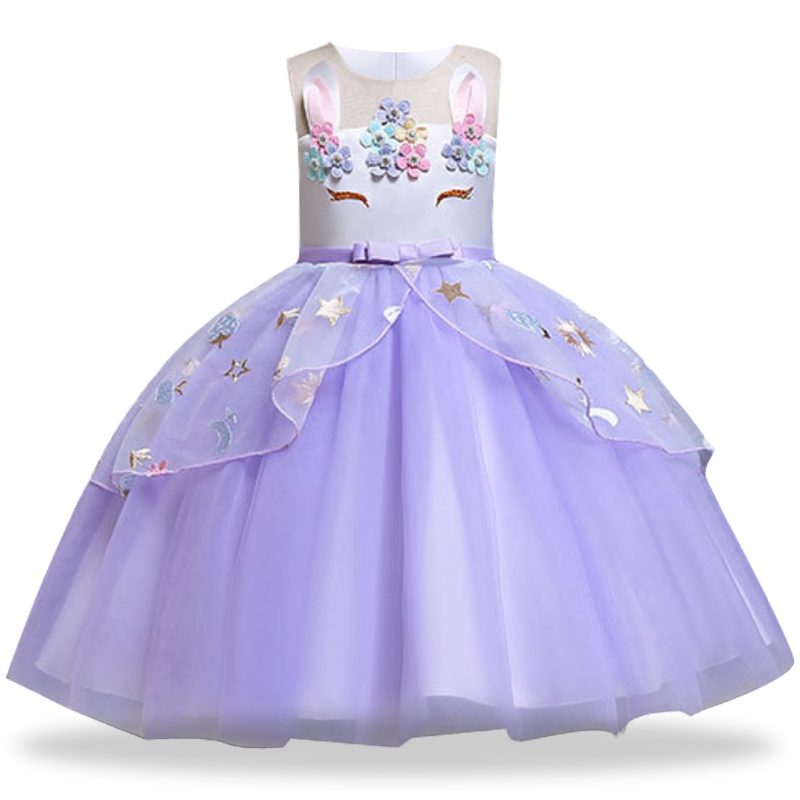 HTB1nmHQavvsK1Rjy0Fiq6zwtXXa2 Unicorn Dress Birthday Kids Dresses For Girls Costume Halloween Christmas Dress Children Party Princess Dresses Elsa Cinderella