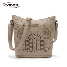 цена на Bag For Women Hollow Out Women Bucket Bags Vintage Shoulder Bag Crossbody High Capacity Women Messenger Bags Ladies Handbags