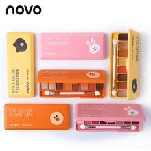 NOVO Lovely 8 Color Silky Eyeshadow Palette Wet & Dry Powder Glitter Nude Eye Sh