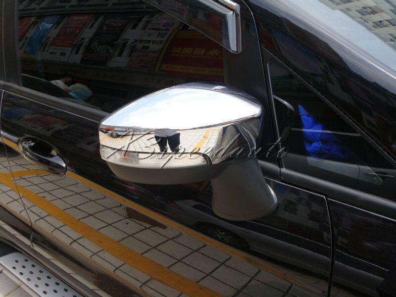 Couvercle de miroir de porte latérale chromé en plastique ABS pour Ford EcoSport 2013-2016