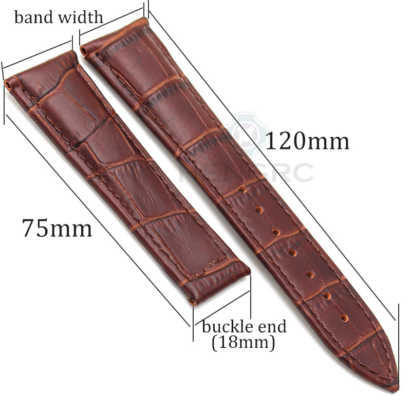 ФОТО Watch Strap Wholesale 10pcs/set 20 22mm Black Brown Orange Higth Quality Genuine Leather  Replacement Watchbands For Omega