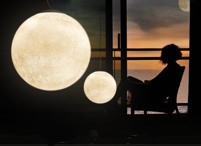 Stile europeo di nuova forma di luna HA CONDOTTO LA lampada a sospensione Camera Da Letto faro hotel corridoio studio sala da pranzo al coperto luce 60 centimetri grande formato