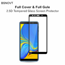 2pcs Full Cover & Glue Screen Protector For Samsung Galaxy A7 2018 Glass Tempered A750