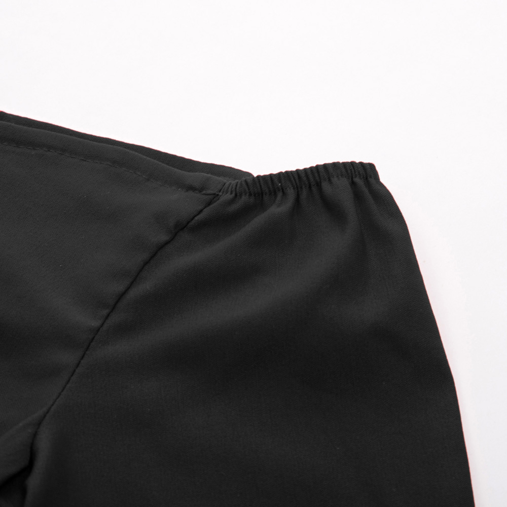 9a31a759a735 ... Women Retro Vintage Dresses 50s 60s Black 3 4 Sleeve Off Shoulder V-Neck  ...