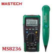 Цифровой мультиметр mastech ms8236 авто диапазон тестер сети сетевой кабель tracker тон телефон проверить бесконтактный напряжение обнаружения
