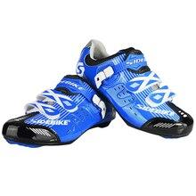 Breathable รองเท้าขี่จักรยานกีฬาจักรยานจักรยานรองเท้าไนล่อน + TPU Soles สำหรับแข่งรถ MTB รองเท้าขี่จักรยาน