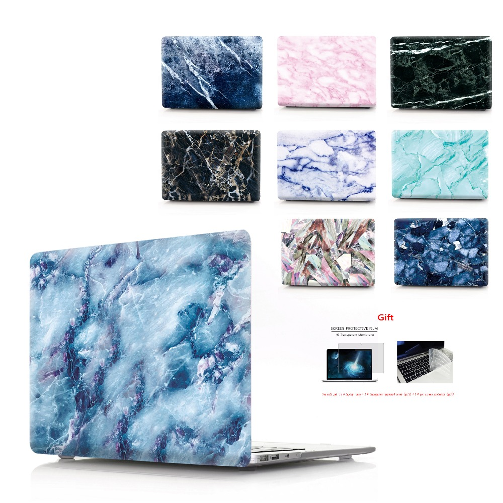 marble Laptop Case For Apple MacBook Air  11,13 Pro Retina 12 13 15 Touch Bar for macbook New Pro 13.3 15.4 New Air 13.3-in Laptop Bags & Cases from Computer & Office