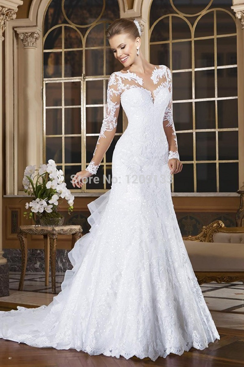 Elegant Wedding Dresses Images : Vestido de noiva cheap elegant wedding gowns bridal dress romantic