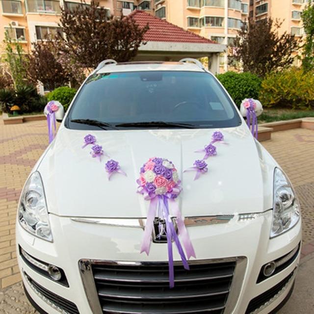 Altar Wedding Cars Timperley: Wedding Decorations Ribbon Bowknot PE Rose Flower Wedding