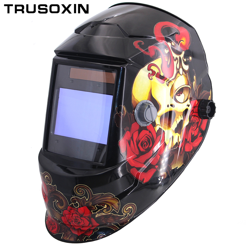 NEW Clown Big View Eara 4 Arc Sensor DIN5-DIN13 Solar Auto Darkening TIG MIG MMA Grinding Welding Mask/Helmet/Welder Cap/Glasses new welding cart trolley welder storage bench mig tig arc mma plasma cutter
