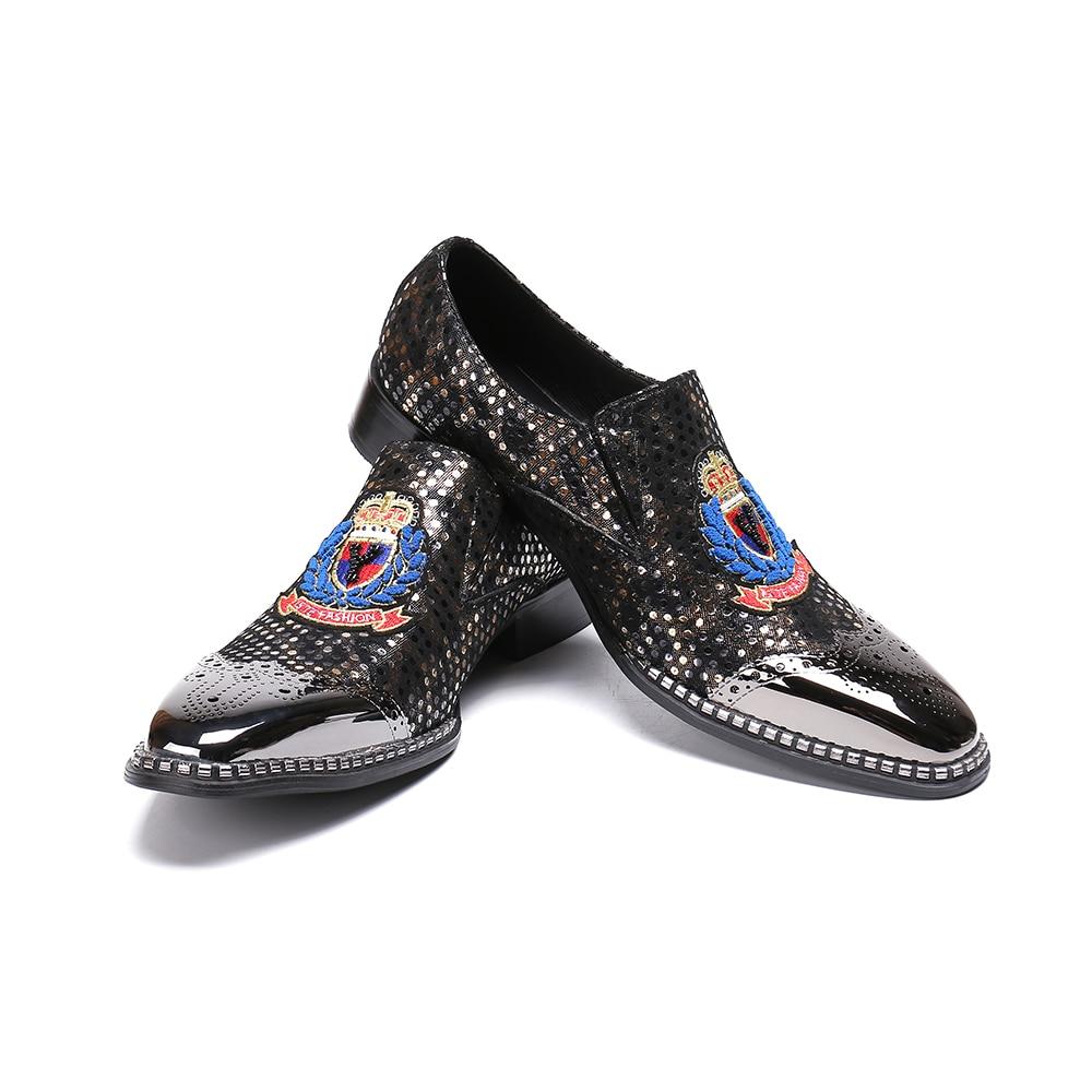 Männer Mode Schwarzes Formale Bullock Karree Britischen Schuhe Business Stil Leder Bella Christia Echtem Hochzeit Kleid RqwX11