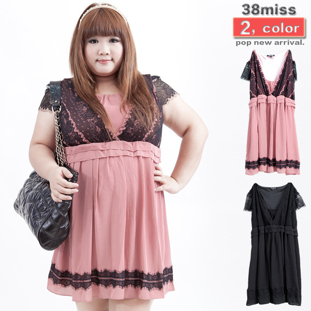 Cheap Dresses For Promotionwomen Plus Size Dress Pink And Black