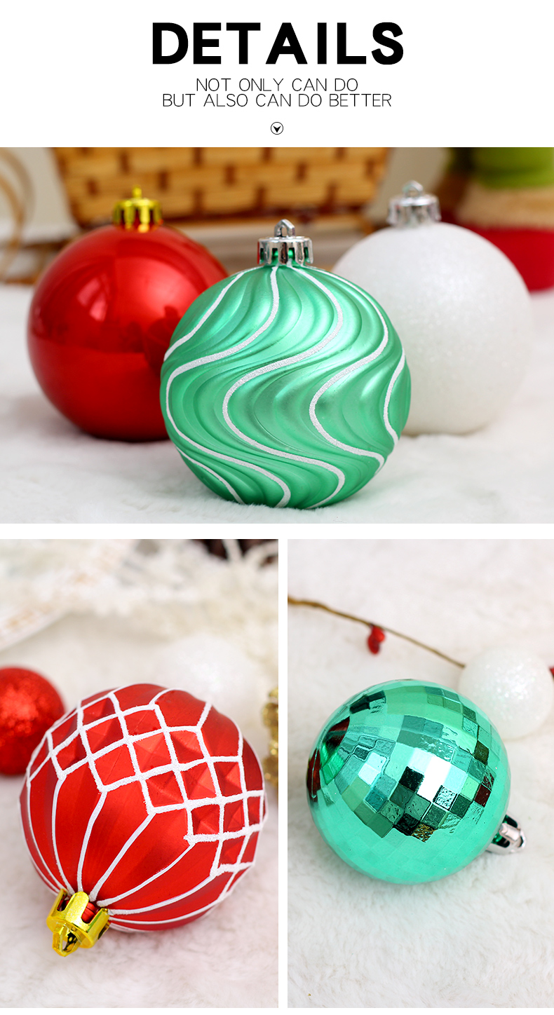 03 inhoo Plastic Christmas Balls For Home Christmas Tree Decorations White Baubles Xmas Ornaments Pendant Balls 2019 New Year Gifts