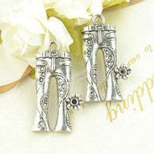30pcs classic diy jewelry findings for vintage metal tibetan silver jeans charms pendants fit Necklaces & Bracelets making 3366(China)