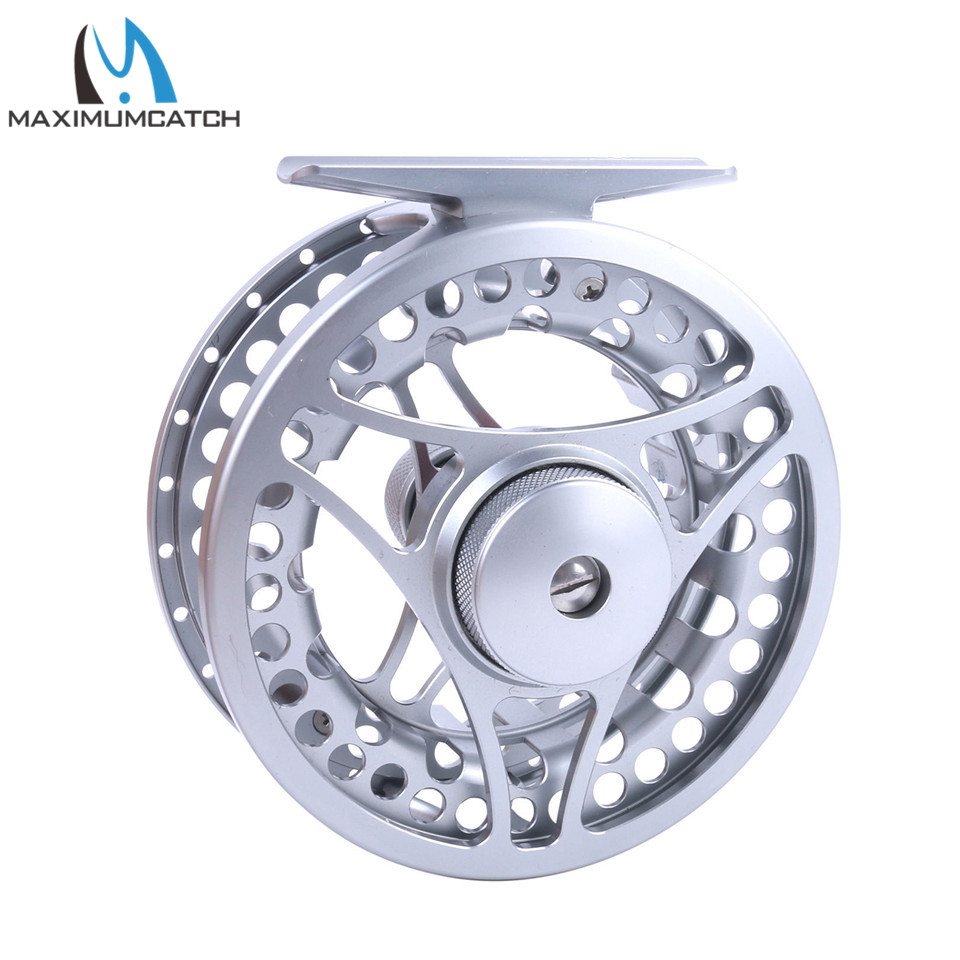 Maximumcatch MC 2-11 weight CNC Machine Cut Fly Reel Large Arbour Aluminum Silver Fly Fishing Reel maximumcatch hvc 7 8 weight exclusive super light fly reel chinese cnc fly fishing reel large arbor aluminum fly reel