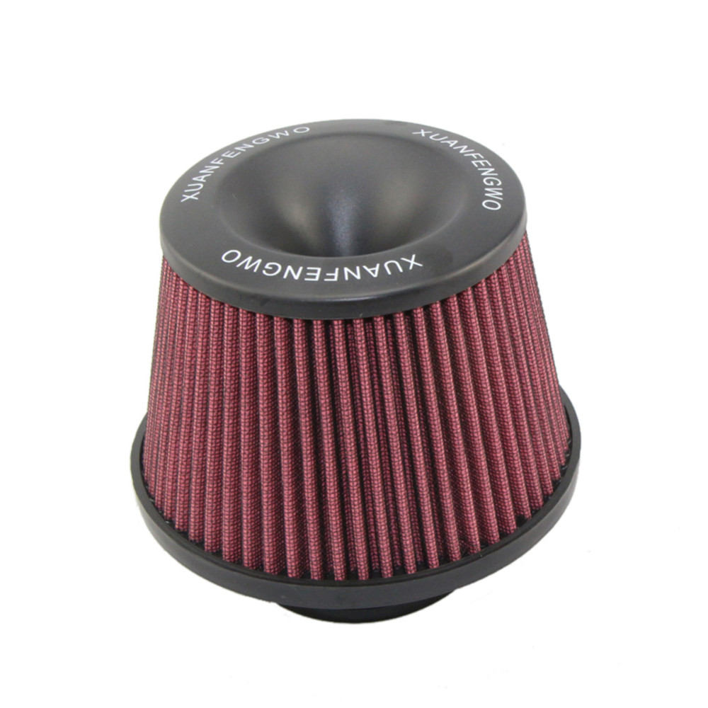 "Universal Kits Auto car Intake Air Filter Air Filter 3"" 76mmr High Flow Cone Cold Air Intake Performance Red 10"