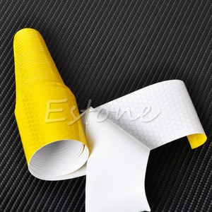 Image 5 - 1Pc צבעוני כסף לבן רעיוני בטיחות אזהרת בלטת קלטת סרט מדבקה