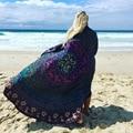 Люксовый бренд шарф Большой Размер Марка шифон Шарфы круглый boho женщин пляжа Бандана Пончо Одеяло Пашмины Шали Палантины Écharpe