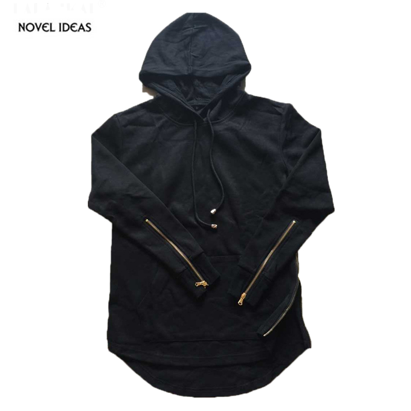 Hooded Side Zipper Kanye Men Hoodie Hip Hop Swag Sweatshirt The Men's Apparel 2016 Spring Thin Street Style