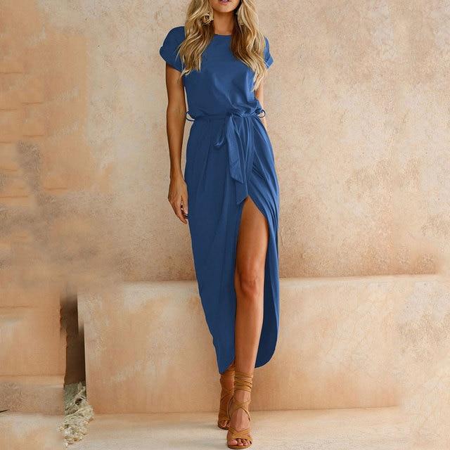2019 Plus Size Party Dresses Women Summer Long Maxi Dress Casual Slim Elegant Dress Bodycon Female Beach Dresses For Women 3xl 2