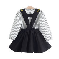 Girls Clothing Sets New Kids Clothes Girls Dress + Striped Shirts 2pcs Princess Costumes Children clothing Toddler Girls Outfits