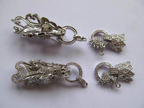 25-50mm 12 pièces AAA fermoir & Crochets Micro Pavé cubique zircone Assorties Léopard Tête Perles connecteur - 5
