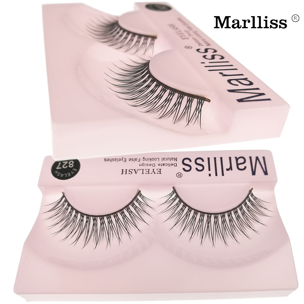 #827 2017 New Style Reusable Up to 4 Weeks Marlliss lashes Cluster Crisscross False Eye lash Korea fiber Wispies False eyelash