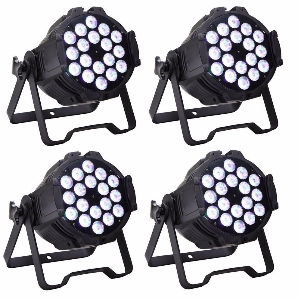 18X10W RGBW 4IN1 LED Par Lights Profesionální jevové osvětlení Vysokovýkonná LED Par Může DMX512 DJ Disco Party Světla Vybavení