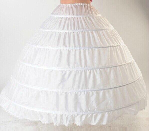New Collection Super Large 6 Layers Wheelrim + Gauze Bridal Petticoat /Wedding Dress Bustle/Quinceanera Dress Underskirt 1146