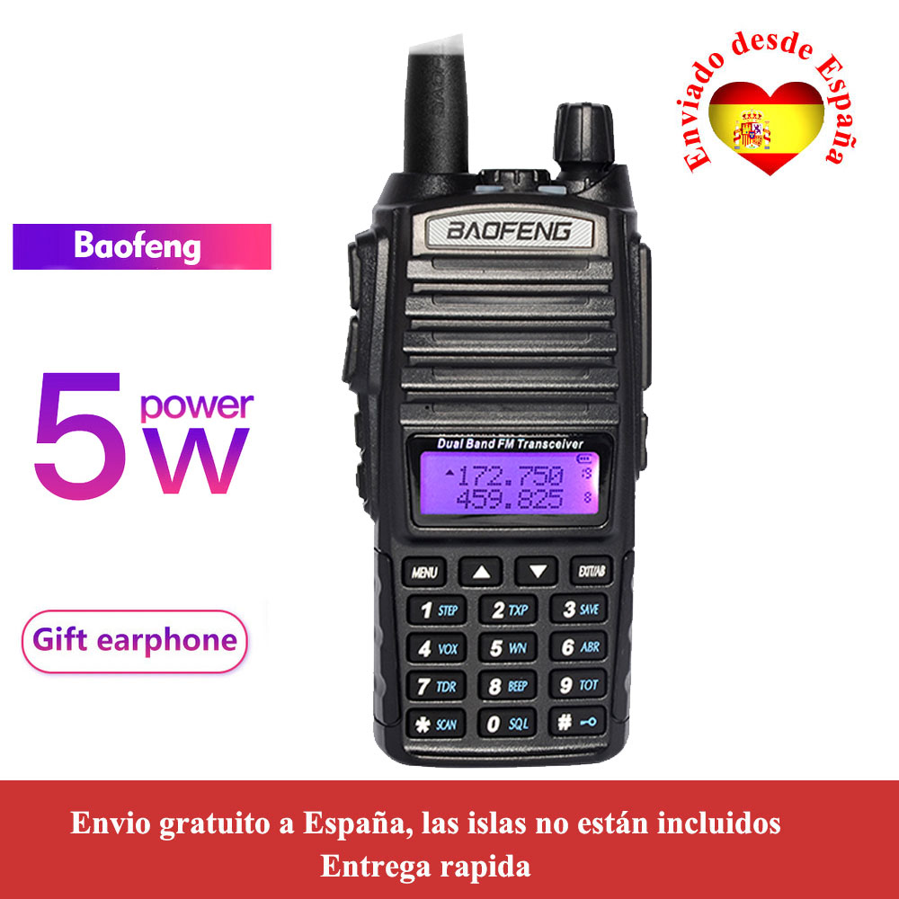 Baofeng UV-82 Woki Toki Dual Band Radio VHF136-174 & UHF400-520MHz 5W FM Radio Uv82 Two Way Radio
