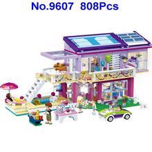 Gudi 9607 808 шт город девушки друзья принцесса модные вечерние вилла строительные блоки игрушки