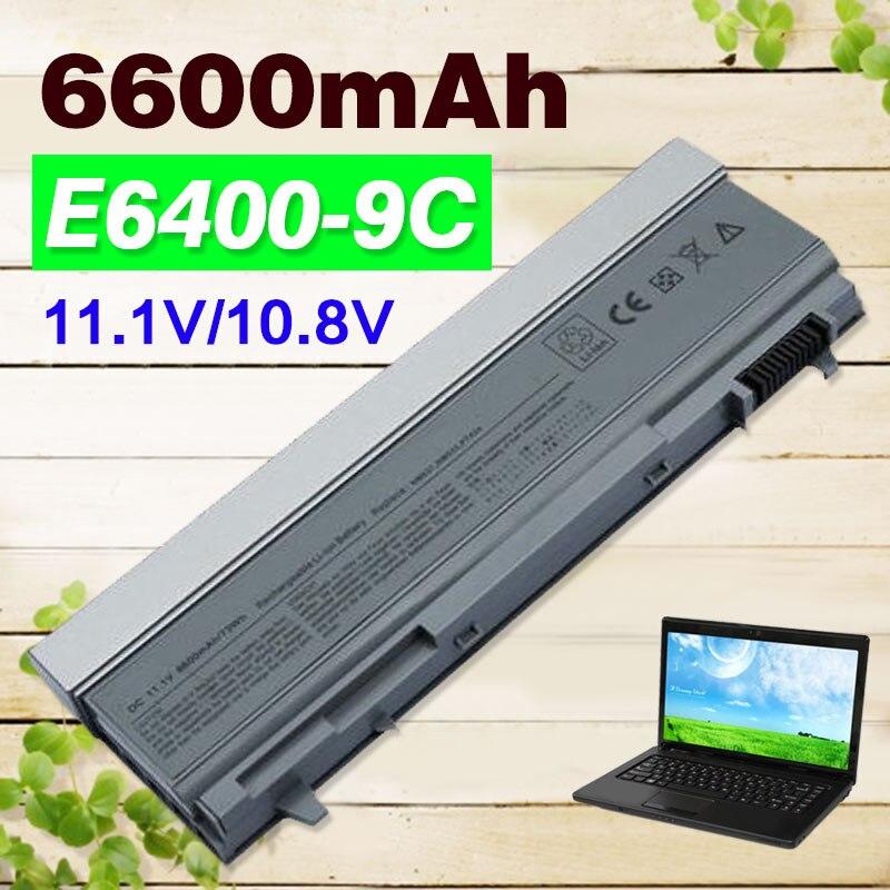 11.1V 6600mAh 9 cells Battery For Dell Latitude E6400 E6410 E6500 E6510 M2400 M4400 M4500 M6400 M6500 1M215 C719R W0X4F PT434 new cz czech for dell latitude e6400 e6410 e5500 e5510 e6500 e6510 m2400 m4400 laptop keyboard with backlight 0d4k8t v082025bs1