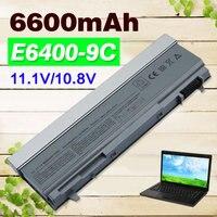 11.1V 6600mAh 9 cells Battery For Dell Latitude E6400 E6410 E6500 E6510 M2400 M4400 M4500 M6400 M6500 1M215 C719R W0X4F PT434