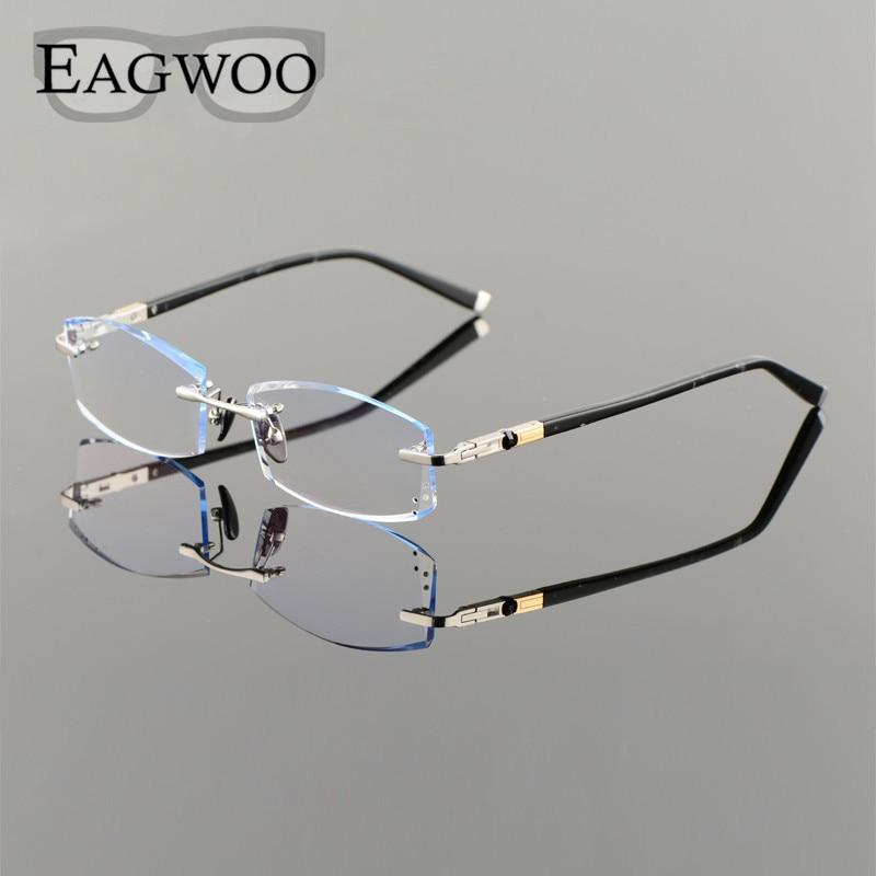 Titan Brillen Männer Randlose Rezept Lesen Myopie Photochrome ...