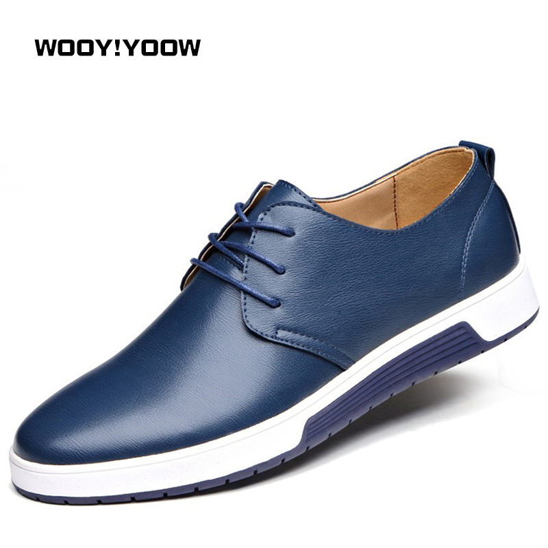 2018 Spring New Men's Casual Shoes Leather Shoes Men's Shoes Comfortable And Breathable Fashion Flat Shoes By WOOY!YOOW