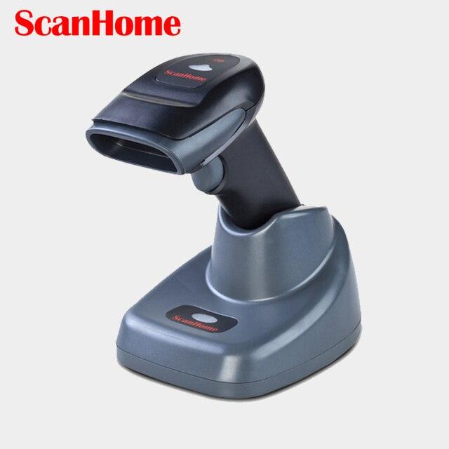 Scanhome SH-4620 433MHz 2D Wireless Barcode Scanner Portable Handheld 100m Range Wireless 2D QR Code Reader Scanner W/Stand
