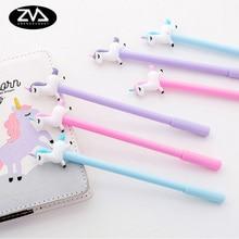 3pcs/lot Kawaii Cute jumping unicorn gel pen Creative Neutral stationery pens canetas material escolar office school supplies стоимость