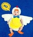 Infantil da criança do bebê unisex animal pato 3 pcs plush bonito costume set foto prop novo 2015 roupa de bebe pará fotografia bebe
