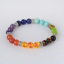 7 Chakra Bracelet Natural Stone Healing Balance
