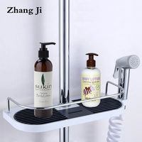 Bathroom Shampoo Storage Holder Tray Wall Mounted Plastic Shower Head Holder Adjustable Bathroom Shelves Soap Storage