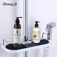 Bathroom Shampoo Storage Holder Tray Wall Mounted Plastic Shower Head Holder Adjustable Bathroom Shelves Soap Storage